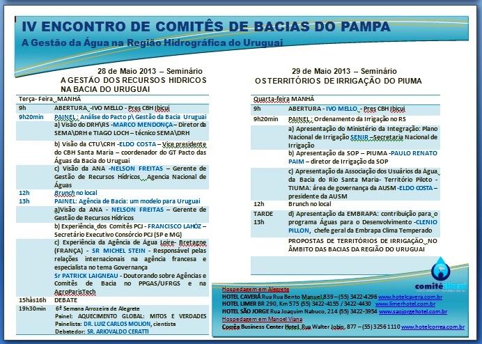 IV ENCONTRO DE COMITÊS DE BACIA DO PAMPA